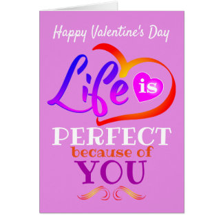 Pink Happy Valentine's Day (or Your Text) Card