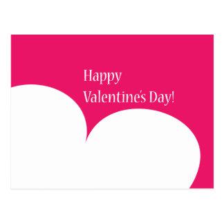 Pink Happy Valentines Day Postcard