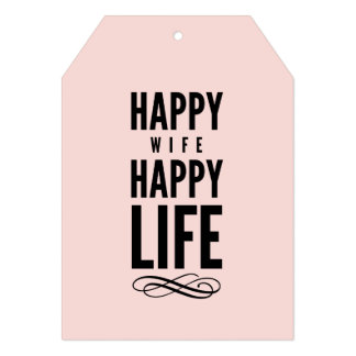 Pink Happy Wife Funny Wise Words Card