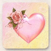 hard, plastic, coasters, heart, red, birthday, wedding, cork, school, education, [[missing key: type_fuji_coaste]] com design gráfico personalizado
