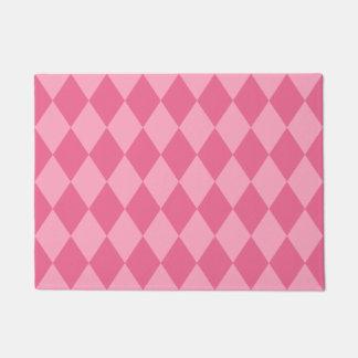 Pink Harlequin Diamond Pattern Doormat