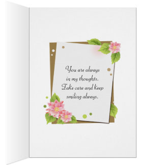 Pink Harlequin Thinking Of You Greeting Card