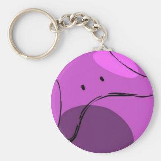Pink Haro Basic Round Button Keychain