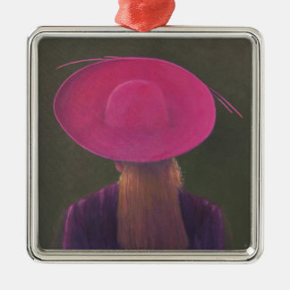 Pink Hat 2014 Metal Ornament