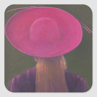 Pink Hat 2014 Square Sticker