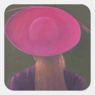 Pink Hat 2014 Square Sticker