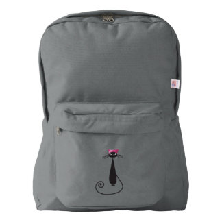 Pink Hat Kitty Cat American Apparel™ Backpack