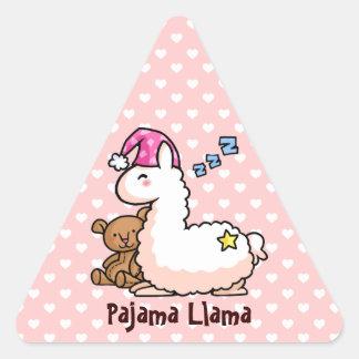 Pink Hat Pajama Llama Triangle Sticker