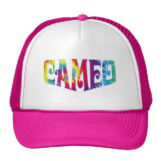 Pink Hat with Tie-Dye Cameo logo