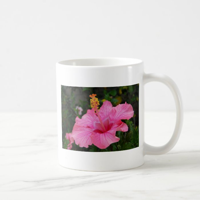 Pink Hawaii Hibiscus Coffee Mug