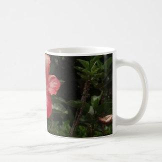 pink hawaii hibiscus plant coffee mug