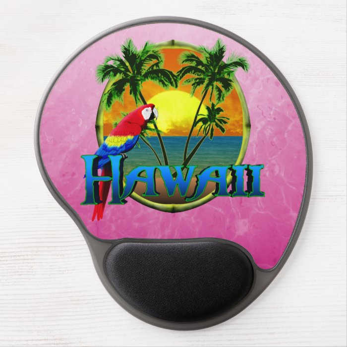 Pink Hawaii Sunset Gel Mouse Pad