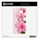 Pink Hawaiian Hibiscus Flowers iPhone 4/4S Skin Skin For iPhone 4S