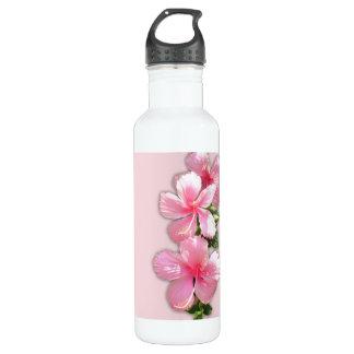 Pink Hawaiian Hibiscus Liberty Stainless Steel Water Bottle