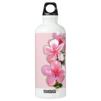 Pink Hawaiian Hibiscus Liberty Water Bottle