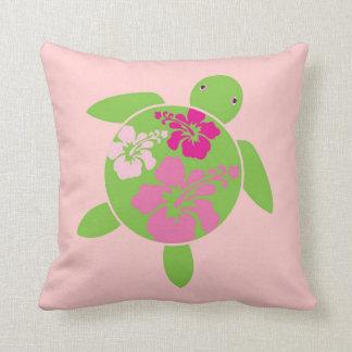 Pink Hawaiian Honu (Sea Turtle) Throw Pillow