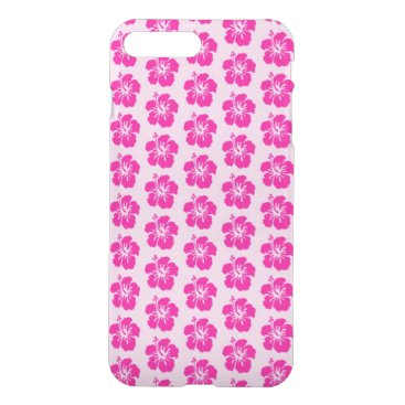 Beach Themed Pink Hawaiian iPhone 7 Plus Clearly™ Case