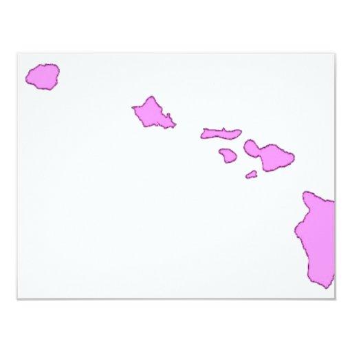pink hawaiian island invitation