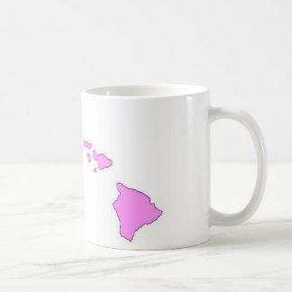 pink hawaiian island mug