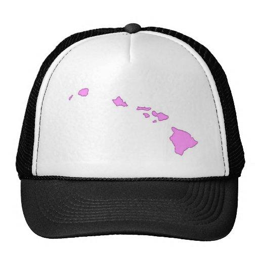 pink hawaiian island trucker hat