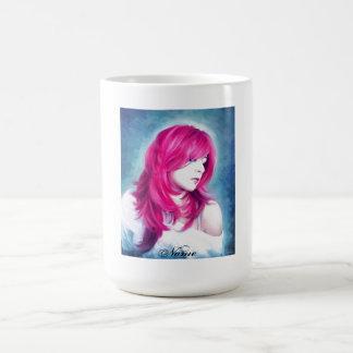 Pink Head sensual  lady oil portrait painting Coffee Mug