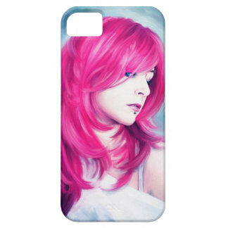 Pink Head sensual lady oil portrait painting iPhone SE/5/5s Case