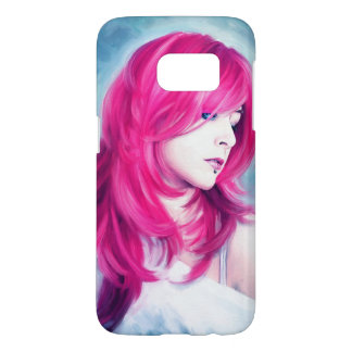 Pink Head sensual lady oil portrait painting Samsung Galaxy S7 Case