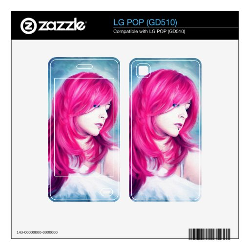 Pink Head sensual  lady oil portrait painting Skin For LG POP