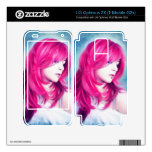 Pink Head sensual  lady oil portrait painting Decals For LG Optimus 2X