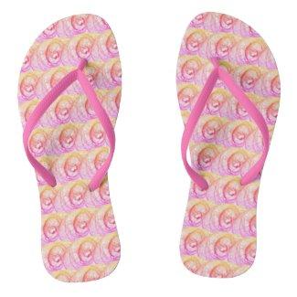 Pink Healing Hope Spiral Flip Flops