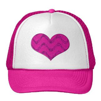 pink heart 3 trucker hat