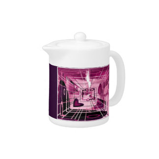 Pink Heart Abstract Teapot