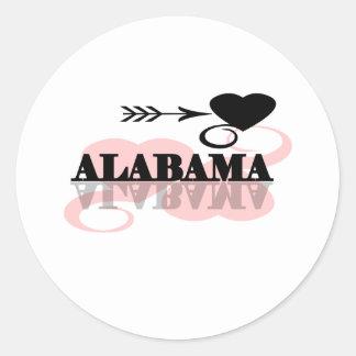 Pink Heart Alabama Classic Round Sticker