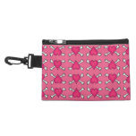 Pink Heart and Crossbones Pattern Accessories Bags