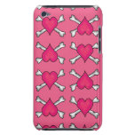 Pink Heart and Crossbones Pattern iPod Case-Mate Cases