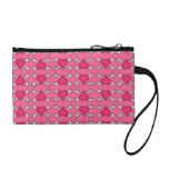 Pink Heart and Crossbones Pattern Coin Purse