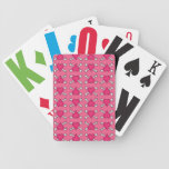 Pink Heart and Crossbones Pattern Deck Of Cards