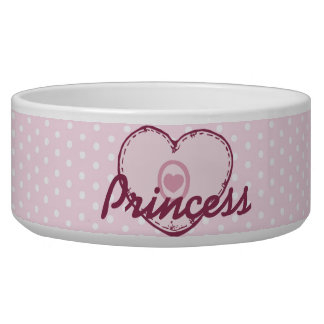 Pink Heart and Polka Dots Bowl