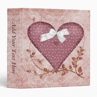 Pink Heart and Vines Binder