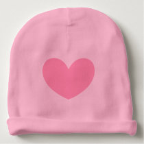 Pink Heart Baby Hat