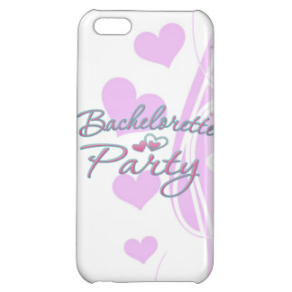 pink heart bachelorette party bridal shower iPhone 5C cover