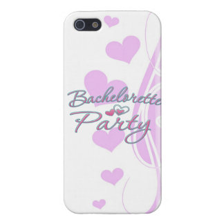 pink heart bachelorette party bridal shower iPhone 5 covers