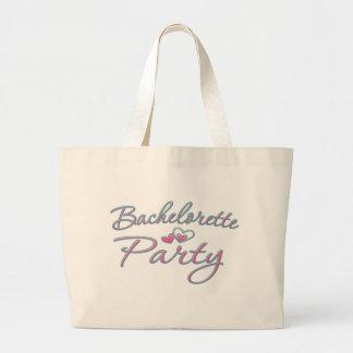 pink heart bachelorette party bridal shower large tote bag