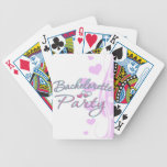 pink heart bachelorette party bridal shower poker cards