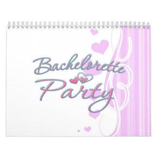 pink heart bachelorette party bridal shower calendar