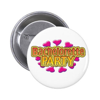 pink heart bachelorette party crazy neon wild fun pins
