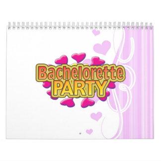 pink heart bachelorette party crazy neon wild fun calendar