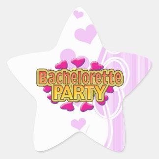 pink heart bachelorette party crazy neon wild fun star sticker