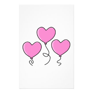 Pink Heart Balloon with Black Outline. Flyer