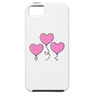 Pink Heart Balloon with Black Outline. iPhone SE/5/5s Case